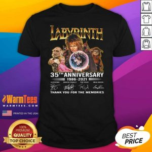 Labyrinth 35th Anniversary Thank You For The Memories Signatures Shirt