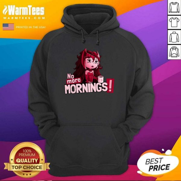 No More Mornings Scarlet Witch Hoodie