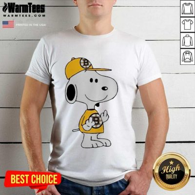 Snoopy Boston Bruins NHL Middle Fingers Fuck You Shirt