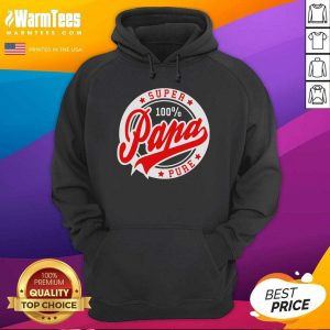 Super Papa 100 Percent Pure Stars Seal Hoodie - Design By Warmtees.com
