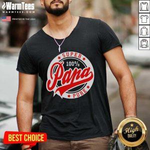 Super Papa 100 Percent Pure Stars Seal V-neck - Design By Warmtees.com