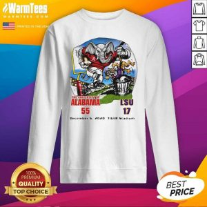The University Of Alabama 55 17 Lsu December 6 2020 SweatShirt - Design By Warmtees.com