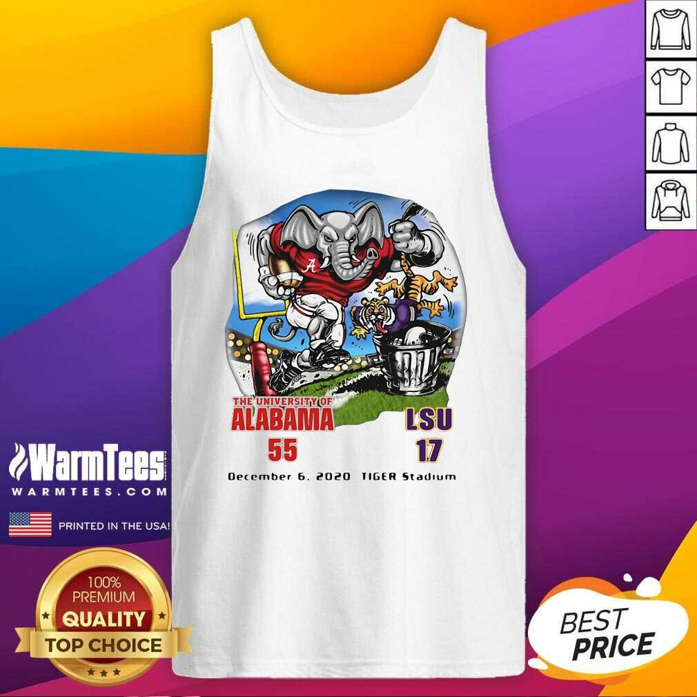 The University Of Alabama 55 17 Lsu December 6 2020 Tank Top  - Design By Warmtees.com