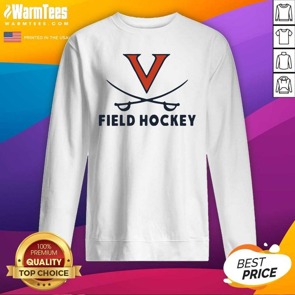 Uva Athletics University Virginia Field Hockey Nike Dri Fit SweatShirt  - Design By Warmtees.com