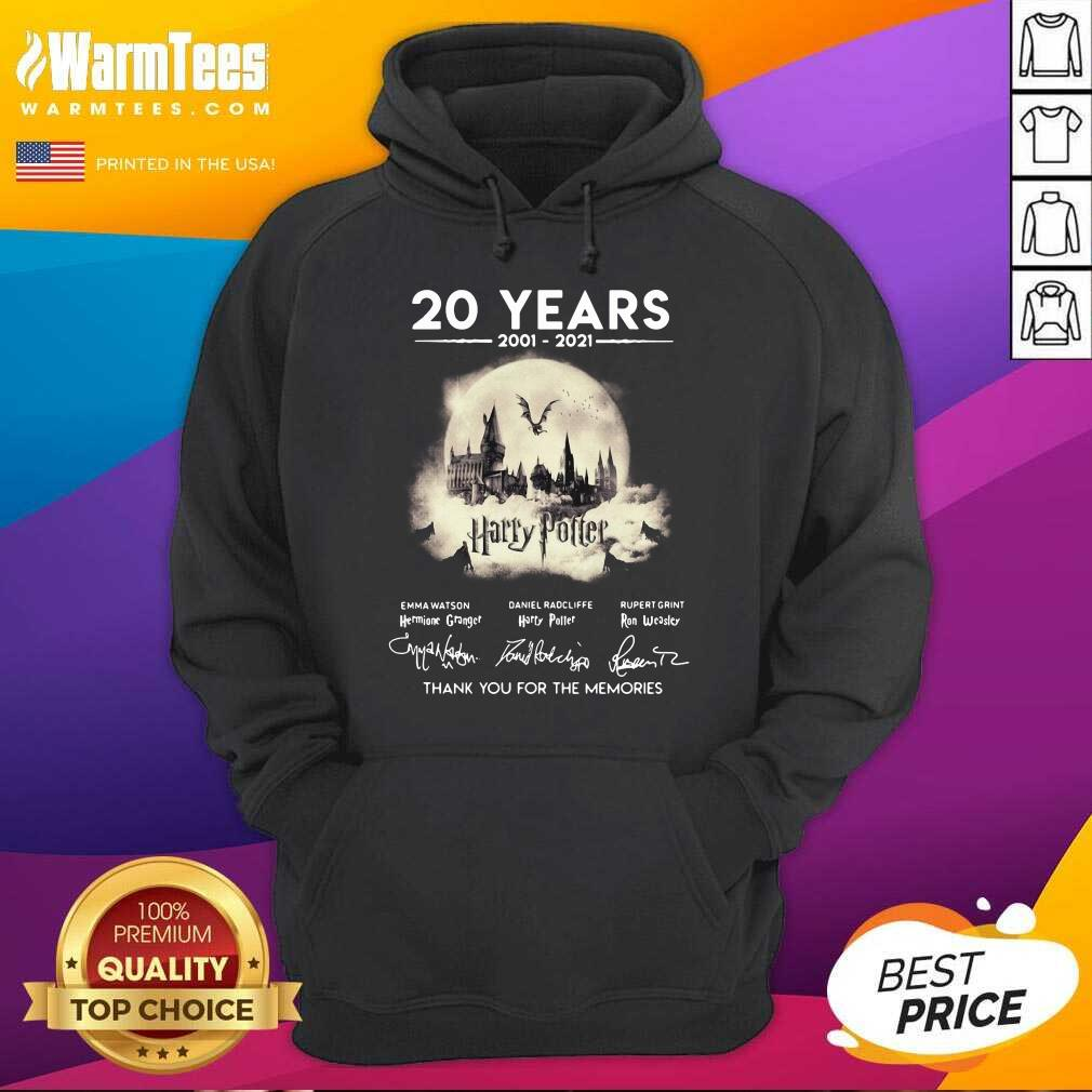 20 Years 2001 2021 Harry Potter Thank You For The Memories Signatures Hoodie