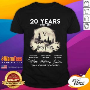20 Years 2001 2021 Harry Potter Thank You For The Memories Signatures Shirt
