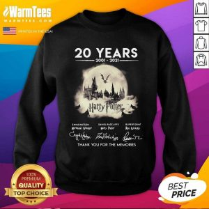 20 Years 2001 2021 Harry Potter Thank You For The Memories Signatures SweatShirt