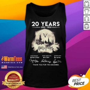 20 Years 2001 2021 Harry Potter Thank You For The Memories Signatures Tank Top
