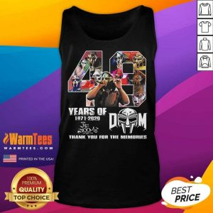 49 Years Of Mf Doom Thank You For The Memories Signatures Tank Top - Design By Warmtees.com