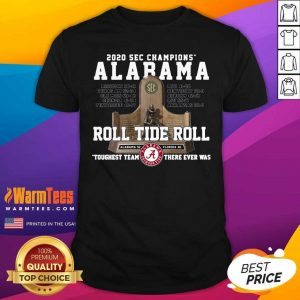 Alabama Crimson 2020 Sec Champions Roll Tide Roll Shirt - Design By Warmtees.com