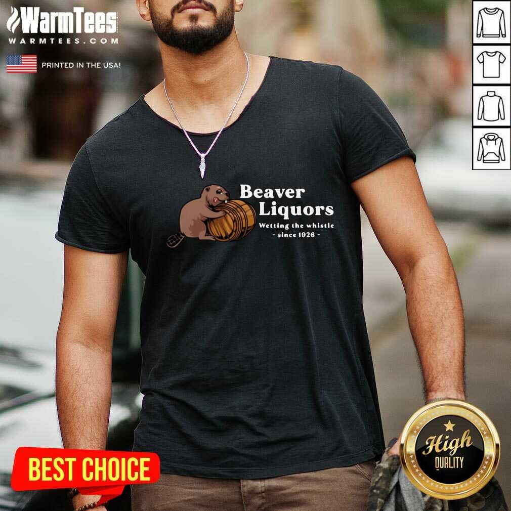 Beaver Liquors Wetting The Whistle Since 1926 V-neck