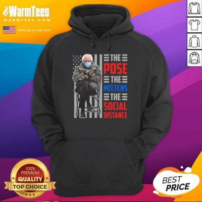 Bernie The Pose The Mittens The Social Distance Hoodie
