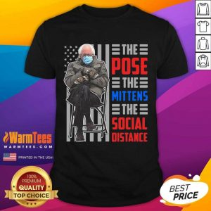 Bernie The Pose The Mittens The Social Distance Shirt