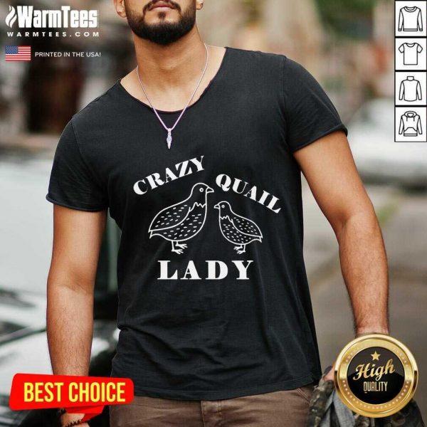Crazy Quail Lady V-neck