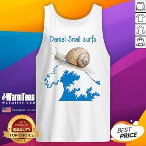 Daniel Snail Surfs Cute Snail Surfer Dude Tank Top
