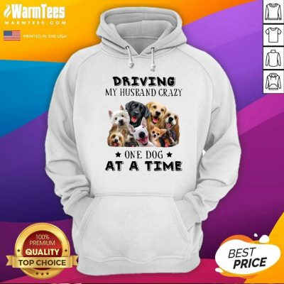 Driving My Husband Crazy One Dog At A Time Hoodie - Design By Warmtees.com