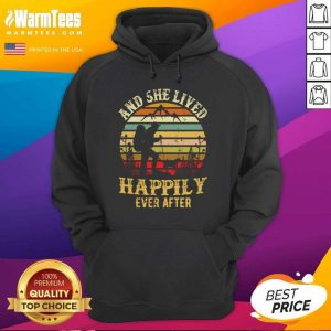 Hiking And She Lived Happily Ever After Vintage Hoodie