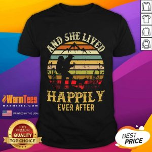 Hiking And She Lived Happily Ever After Vintage Shirt