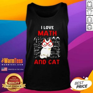 I Love Math And Cat Tank Top - Design By Warmtees.com