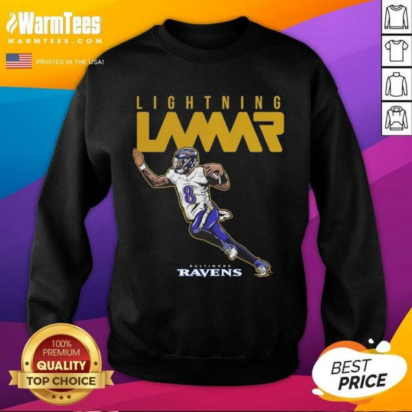 Lamar Jackson Baltimore Ravens Lightning Lamar SweatShirt