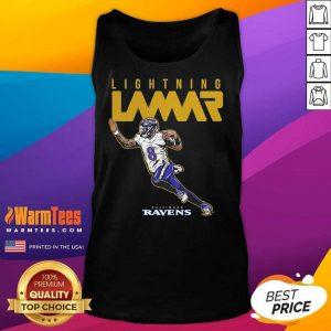 Lamar Jackson Baltimore Ravens Lightning Lamar Tank Top