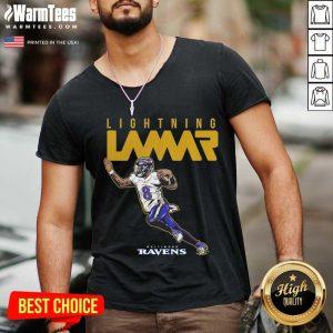 Lamar Jackson Baltimore Ravens Lightning Lamar V-neck