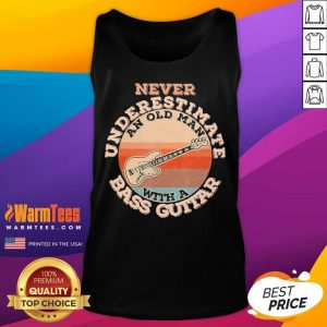 Never Underestimate An Old Man With A Bass Guitar Vintage Tank Top