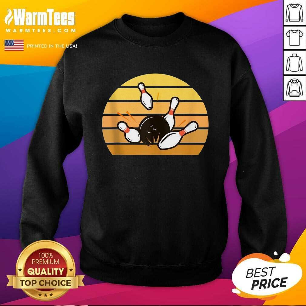 Retro Bowling Sunset SweatShirt
