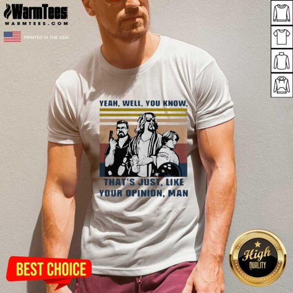 The Lebowski Yeah Well You Know That's Just Like Your Opinion Man Vintage Retro V-neck - Design By Warmtees.com