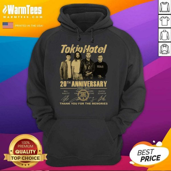 Tokio Hotel 20th Anniversary 2001 2021 Signatures Thank You For The Memories Hoodie