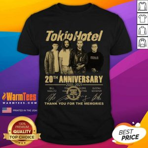 Tokio Hotel 20th Anniversary 2001 2021 Signatures Thank You For The Memories Shirt