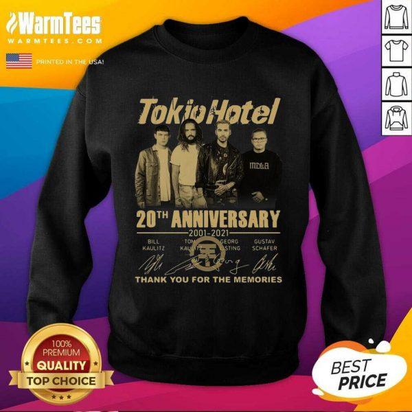 Tokio Hotel 20th Anniversary 2001 2021 Signatures Thank You For The Memories SweatShirt