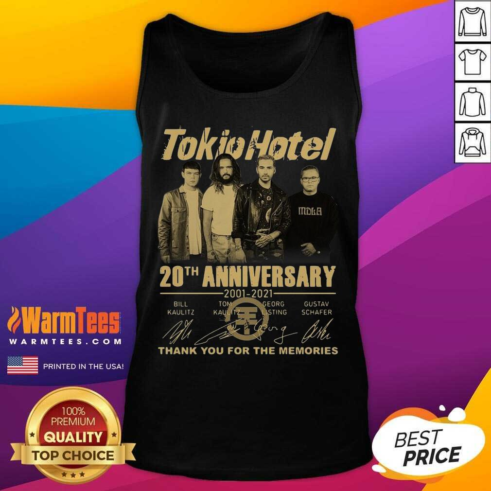 Tokio Hotel 20th Anniversary 2001 2021 Signatures Thank You For The Memories Tank Top