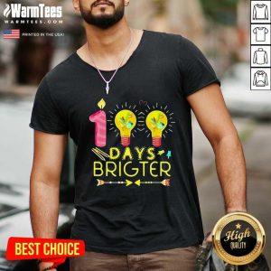100 Days Brighter V-neck