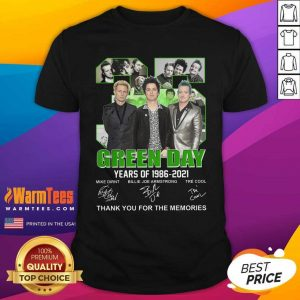 35 Green Day Years Of 1986 2021 Signatures Thank You For The Memories Shirt - Design By Warmtees.com