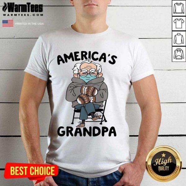 Bernie Sanders Mittens America's Grandpa Shirt