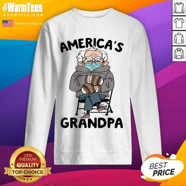 Bernie Sanders Mittens America's Grandpa SweatShirt