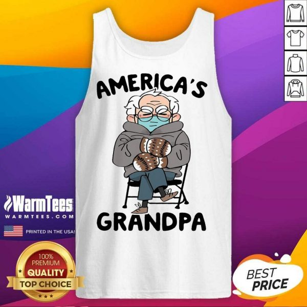 Bernie Sanders Mittens America's Grandpa Tank Top