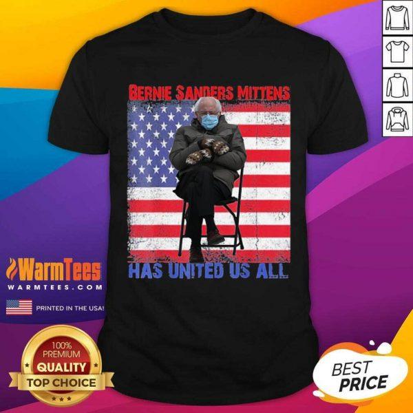 Bernie Sanders Mittens Sitting Inauguration Usa Flag Premium Gift Shirt