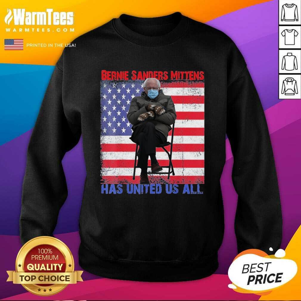 Bernie Sanders Mittens Sitting Inauguration Usa Flag Premium Gift SweatShirt