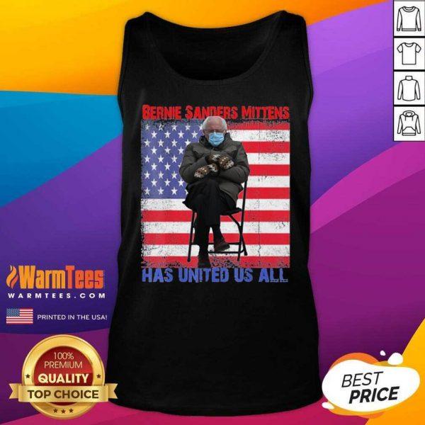 Bernie Sanders Mittens Sitting Inauguration Usa Flag Premium Gift Tank Top