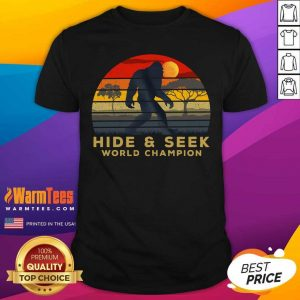 Bigfoot Hide And Seek World Champion Vintage Retro Shirt - Design By Warmtees.com