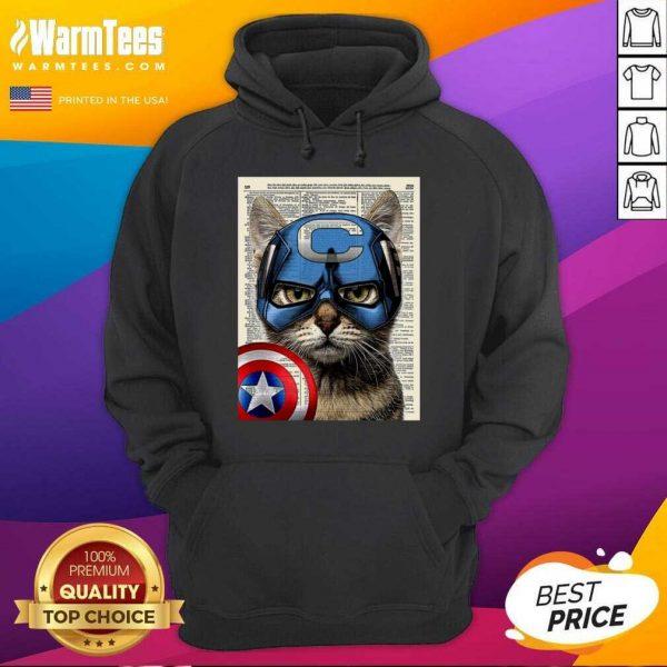 Cat Captain America Hoodie