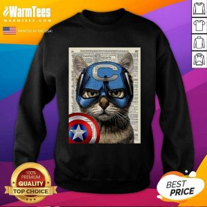 Cat Captain America SweatShirt