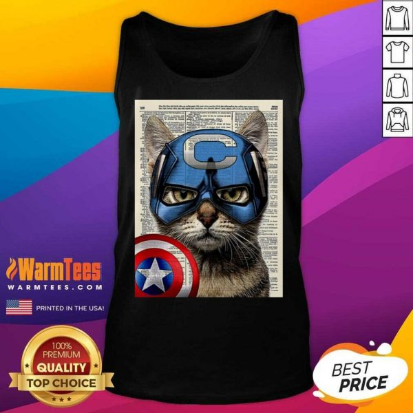 Cat Captain America Tank Top