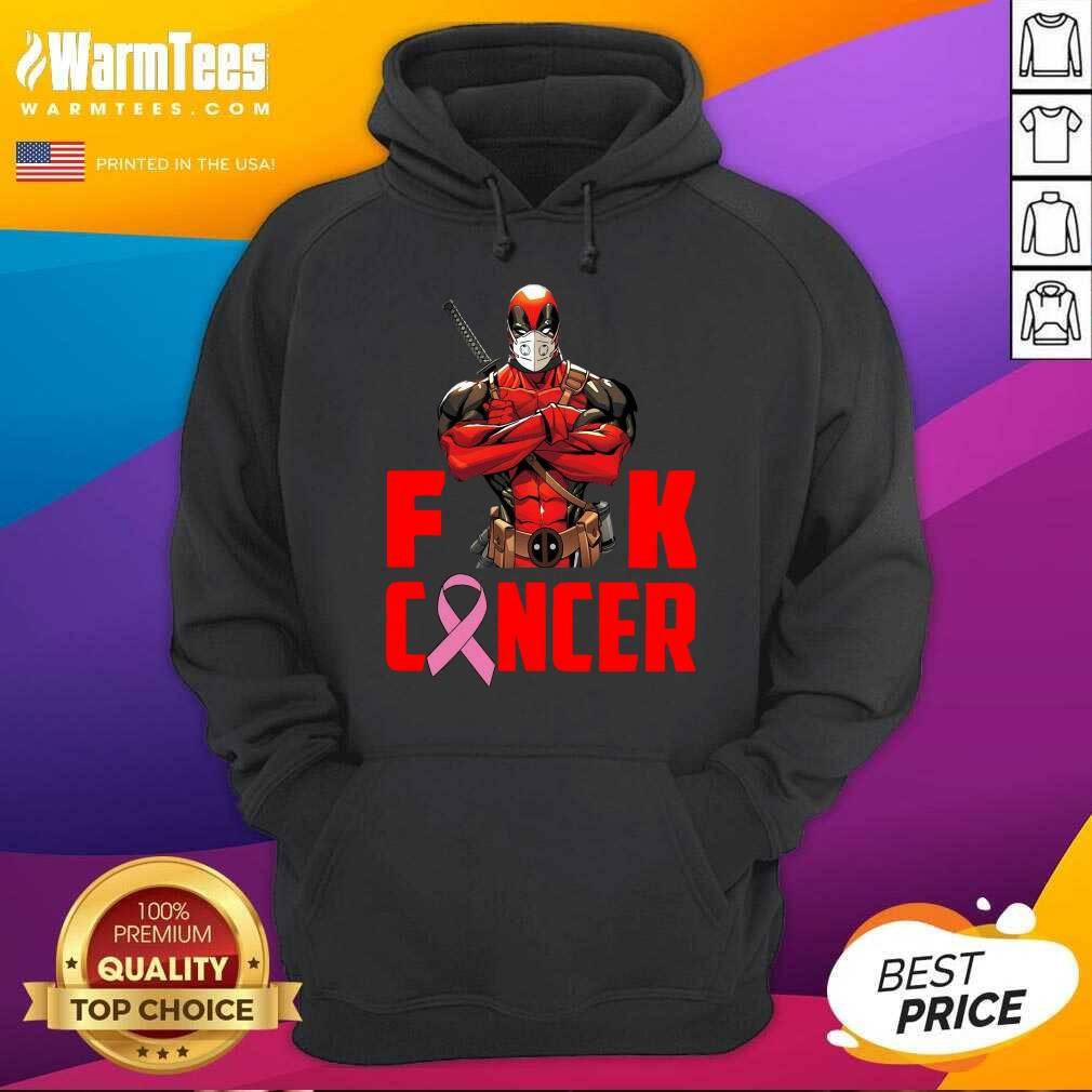 Deadpool Fuck Breast Cancer Hoodie  - Design By Warmtees.com