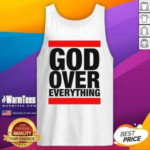 God Over Everything Tank Top - Design By Warmtees.com