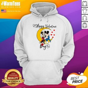 Mickey Mouse And Minnie Mouse Happy Valentines Day Valentine's Day Hoodie - Design By Warmtees.com