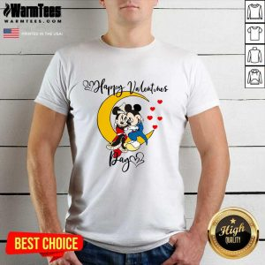 Mickey Mouse And Minnie Mouse Happy Valentines Day Valentine's Day Shirt - Design By Warmtees.com