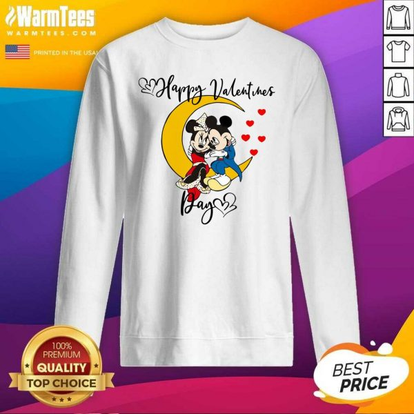 Mickey Mouse And Minnie Mouse Happy Valentines Day Valentine's Day SweatShirt - Design By Warmtees.com